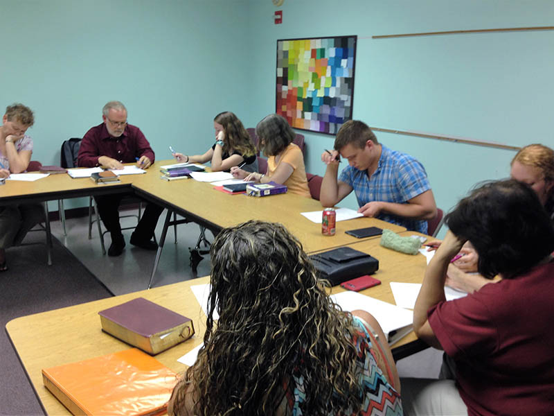 Dr. Ponz teaches Christian Leadership class at Florida Bible College